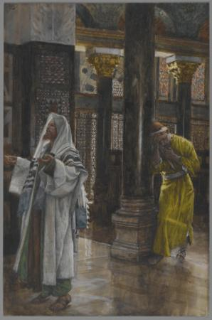 The Pharisee and the Publican, Illustration from 'The Life of Our Lord Jesus Christ', 1886-94 by James Tissot