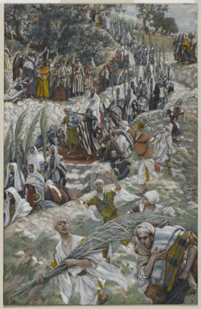 The Procession on the Mount of Olives by James Tissot