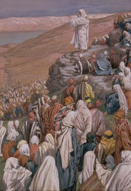 The Sermon on the Mount, Illustration for 'The Life of Christ', C.1886-96 by James Tissot