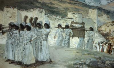 The Seven Trumpets of Jericho by James Tissot