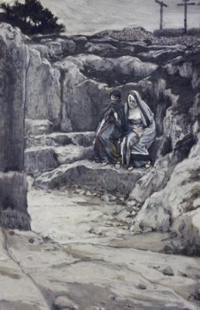 Two Marys' Watch the Tomb of Jesus by James Tissot