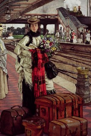Waiting at the Station, Willesden Junction, circa 1874