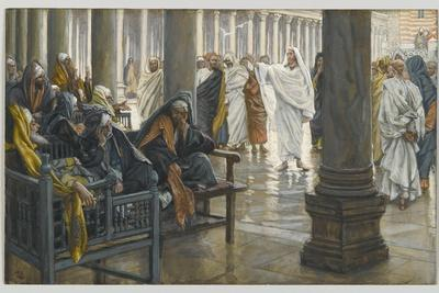 Woe Unto You, Scribes and Pharisees, Illustration from 'The Life of Our Lord Jesus Christ', 1886-94