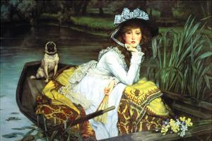 Young Woman Looking in a Boat by James Tissot