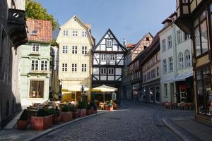 Germany, Harz Mountains, Quedlinburg, Timber-Framed Houses by James Tye