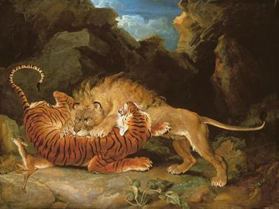 Fight Between a Lion and a Tiger, 1797