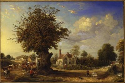 The Yeldham Oak at Great Yeldham, Essex, 1833