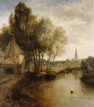 A View of Stratford Upon Avon by James Webb