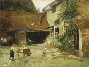 A Cottage in Brooklyn by James Wells Champney