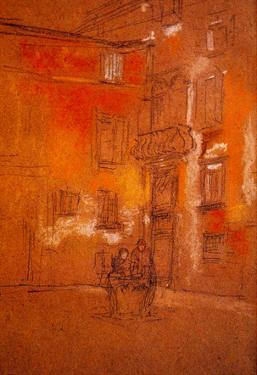 James Whistler Venetian Courtyard Art Print Poster