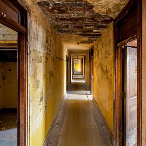 Hallway of an Abandoned Building in Butte, Montana by James White