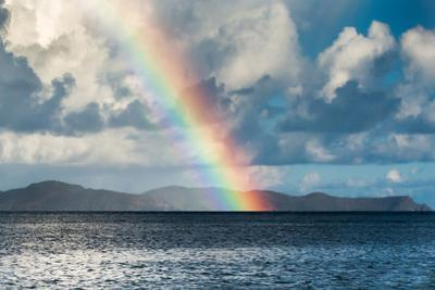 Rainbow Shining over the British Virgin Islands by James White