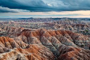 Sunset over Badlands National Park, Sd by James White