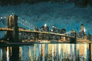 Bright City Lights Blue I by James Wiens