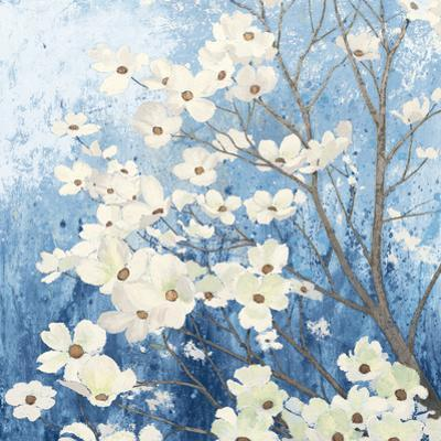 Dogwood Blossoms I Indigo by James Wiens