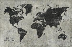 Grunge World Map by James Wiens