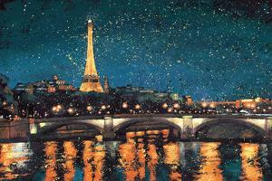 Paris Nights Blue I by James Wiens