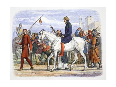 Thomas, Earl of Lancaster, being led to execution, Pontefract, Yorkshire, 1322 (1864)