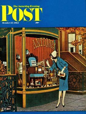 """""""Antique TV,"""" Saturday Evening Post Cover, October 27, 1962 by James Williamson"""