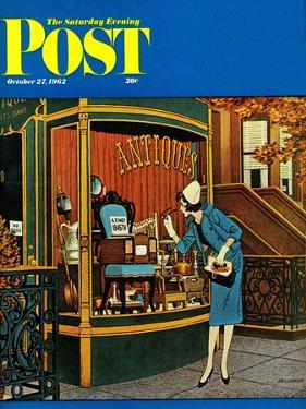 """Antique TV,"" Saturday Evening Post Cover, October 27, 1962 by James Williamson"