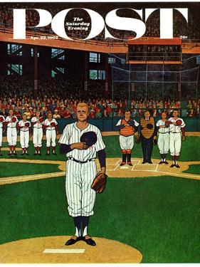 """Baseball Fight,"" Saturday Evening Post Cover, April 28, 1962 by James Williamson"