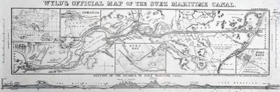 Wyld's Official Map of the Suez Maritime Canal, 1869
