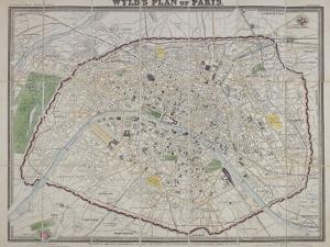 Wyld's Plan of Paris, 1870 by James Wyld
