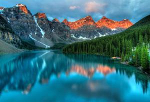 Moraine Lake Sunrise Colorful Landscape by JamesWheeler