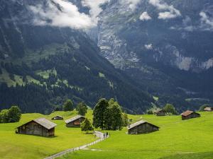 Switzerland, Bern Canton, Grindelwald, Alpine Farm Area by Jamie And Judy Wild