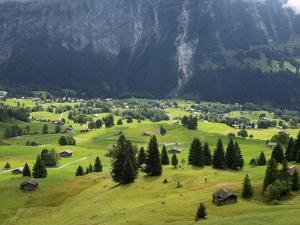 Switzerland, Bern Canton, Grindelwald, Alpine Farming Community by Jamie And Judy Wild