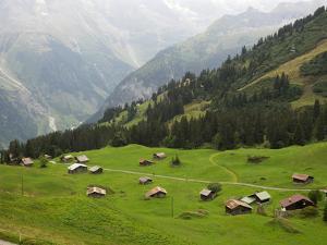 Switzerland, Bern Canton, Murren, Alpine Farming and Pasture Area by Jamie And Judy Wild