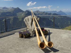 Switzerland, Bern Canton, Schynige Platte, Alpenhorns by Jamie And Judy Wild