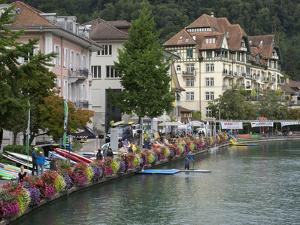 Switzerland, Bern Canton, Thun, Old Town, Buildings Along the Aare River by Jamie And Judy Wild