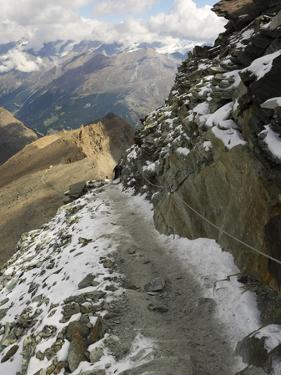 Switzerland, Zermatt, Hiking Trail from Schwarzsee to Hornli Hut by Jamie And Judy Wild