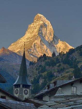 Switzerland, Zermatt, the Matterhorn, View from Zermatt