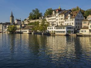 Switzerland, Zurich, Historic Lindenhof Area Along Limmat River by Jamie And Judy Wild