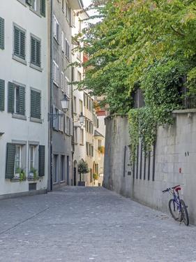 Switzerland, Zurich, Historic Lindenhof Area, Schussel Gasse, a Cobblestone Side Street by Jamie And Judy Wild