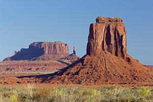 Arizona, Monument Valley, East Mitten Butte and Saddleback Mesa by Jamie & Judy Wild
