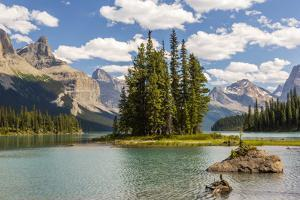 Canada, Alberta, Jasper National Park, Maligne Lake and Spirit Island by Jamie & Judy Wild