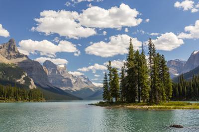 Canada, Alberta, Jasper National Park, Maligne Lake and Spirit Island by Jamie & Judy Wild