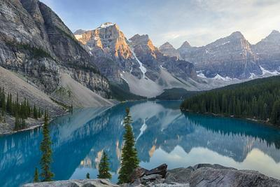 Canada, Banff National Park, Valley of the Ten Peaks, Moraine Lake