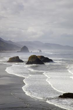 Cannon Beach and Haystack Rock, Crescent Beach, Ecola State Park, Oregon, USA by Jamie & Judy Wild