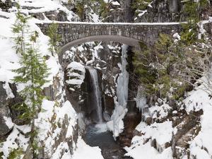Christine Falls, Rainier National Park, Mt, Washington, Usa by Jamie & Judy Wild