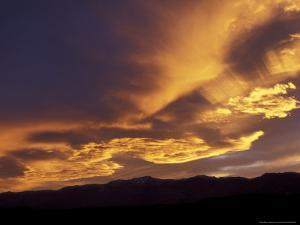 Clouds at Sunset from Artists Drive, Death Valley National Park, California, USA by Jamie & Judy Wild