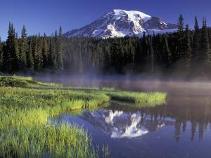 Early Morning on Reflection Lake, Mt. Rainier National Park, Washington, USA by Jamie & Judy Wild