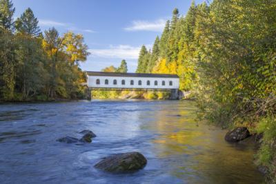 Goodpasture Covered Bridge, Mckenzie River, Lane County, Oregon, USA by Jamie & Judy Wild