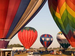 Launching Hot Air Balloons, The Great Prosser Balloon Rally, Prosser, Washington, USA by Jamie & Judy Wild