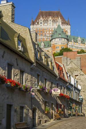 Lower old town with Chateau Frontenac, Quebec City, Quebec, Canada. by Jamie & Judy Wild