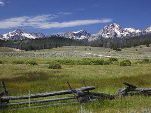 Meadow and Mountains, Sawtooth National Recreation Area, Idaho, USA by Jamie & Judy Wild