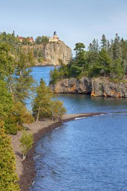 Minnesota, Lake Superior North Shore. Split Rock Lighthouse by Jamie & Judy Wild